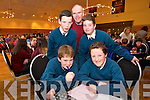 Connell Wheelan, Dylan O'Neil Liam Fell Tom Keane, David Murphy from Nagle Rice Milltown at the Chapter 23 Credit Union Schools Quiz finals at Ballyroe Heights Hotel on Sunday