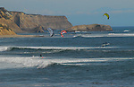 Kite surfers at Greyhound Rock