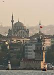Istanbul, Turkey, Architecture, Asian shore, Uskudar, waterfront, Bosphorus Strait, Kiz Kulesi,