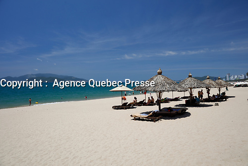 The beach<br /> , Nha Trang, Viet Nam<br /> <br /> PHOTO :  Agence Quebec Presse<br /> <br /> <br /> <br /> <br /> <br /> PHOTO : Agence Quebec Presse