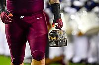 Blacksburg, VA - OCT 6, 2018: Virginia Tech Hokies trademark lunch pail before game between Notre Dame and Virginia Tech at Lane Stadium/Worsham Field Blacksburg, VA. (Photo by Phil Peters/Media Images International)
