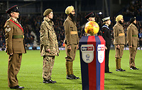 Members of the armed forces were present at the game for Remembrance fixture<br /> <br /> Photographer David Shipman/CameraSport<br /> <br /> The EFL Sky Bet Championship - West Bromwich Albion v Leeds United - Saturday 10th November 2018 - The Hawthorns - West Bromwich<br /> <br /> World Copyright &copy; 2018 CameraSport. All rights reserved. 43 Linden Ave. Countesthorpe. Leicester. England. LE8 5PG - Tel: +44 (0) 116 277 4147 - admin@camerasport.com - www.camerasport.com