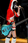 Chthonic Concert, Kaohsiung -- Doris Yeh of the Taiwanese Black Metal band Chthonic dressed in a Santa Claus costume.