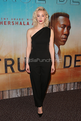 LOS ANGELES, CA - JANUARY 10: Sara Gadon at the Los Angeles Premiere of HBO's True Detective Season 3 at the Directors Guild Of America in Los Angeles, California on January 10, 2019. Credit: Faye Sadou/MediaPunch