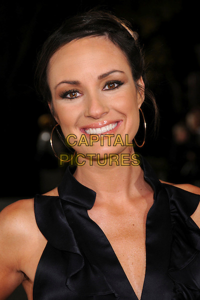"CATT SADLER.""Cloverfield"" Los Angeles Premiere at Paramount Studios, Hollywood, California, USA..January 16th, 2008.headshot portrait gold hoop earrings .CAP/ADM/BP.©Byron Purvis/AdMedia/Capital Pictures."