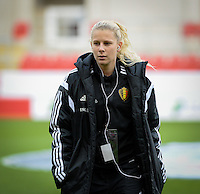 20160408 - ROTHERHAM , ENGLAND : Belgian Tine Schryvers pictured prior the female soccer game between England and The Belgian Red Flames - Belgium , the fourth game in the qualification for the European Championship in The Netherlands 2017  , Friday 8 th April 2016 at AESSEAL New York Stadium in Rotherham , England . PHOTO DAVID CATRY