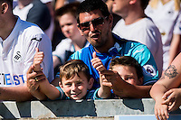 Swansea fans during the Pre Season friendly match between Swansea City and Rovers played at the Memorial Stadium, Bristol on July 23rd 2016