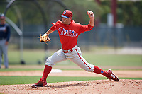 Philadelphia Phillies pitcher Joey DeNato during a Minor League Extended Spring Training game against the Atlanta Braves on April 20, 2018 at Carpenter Complex in Clearwater, Florida.  (Mike Janes/Four Seam Images)