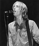 Tom Petty onstage at the Palladium, NYC in July 1978