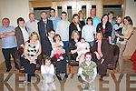 2382-2386.Congratulations - Darren & Faye Diggins, Oakpark, seated centre celebrating the christening of their daughter Hannah with family and friends in Kerins O'Rahillys GAA Club on Saturday..   Copyright Kerry's Eye 2008