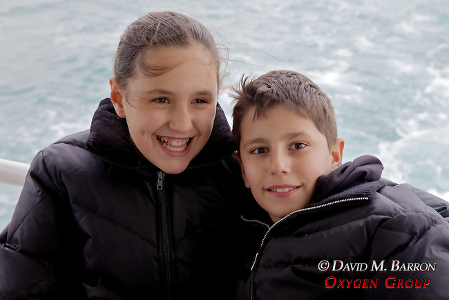 Brother & Sister On Ferry