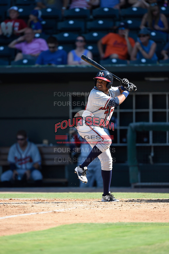 ***Temporary Unedited Reference File***Mississippi Braves pinch hitter Dian Toscano (16) during a game against the Jacksonville Suns on May 1, 2016 at The Baseball Grounds in Jacksonville, Florida.  Jacksonville defeated Mississippi 3-1.  (Mike Janes/Four Seam Images)