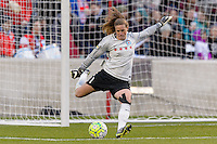 Bridgeview, IL, USA - Sunday, May 1, 2016: Chicago Red Stars goalkeeper Alyssa Naeher (1) during a regular season National Women's Soccer League match between the Chicago Red Stars and the Orlando Pride at Toyota Park. Chicago won 1-0.