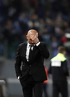 Calcio, Serie A: Roma, stadio Olimpico, 1marzo 2017.<br /> Roma's coach Luciano Spalletti during the Italian TIM Cup 1st leg semifinal football match between Lazio and AS Roma at Rome's Olympic stadium, on March 1, 2017.<br /> UPDATE IMAGES PRESS/Isabella Bonotto