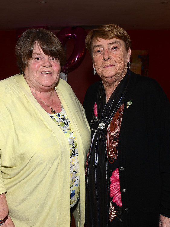 Pat Donaghy celebrating her 70th birthday in Tommy Hanratty's with friend Lolo Kelly. Photo:Colin Bell/pressphotos.ie