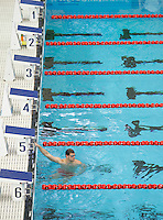 13 MAR 2006 - MELBOURNE, AUSTRALIA - Liam Tancock (ENG) trains in the pool before the 2006 Commonwealth Games. (PHOTO (C) NIGEL FARROW)