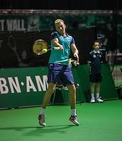 Rotterdam, Netherlands, 11 februari, 2017, ABNAMROWTT, Supermatch semifinal, Glen Smits (NED)