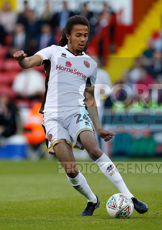 Kory Roberts of Walsall during the Carabao Cup First Round match at Bramall Lane Stadium, Sheffield. Picture date: August 9th 2017. Pic credit should read: Simon Bellis/Sportimage