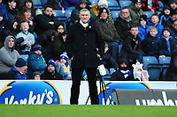 Tony Mowbray Manager of Blackburn Rovers in action during the Sky Bet Championship match between Blackburn Rovers and Swansea City at Ewood Park on in Blackburn, England, UK. Saturday 29 February 2020