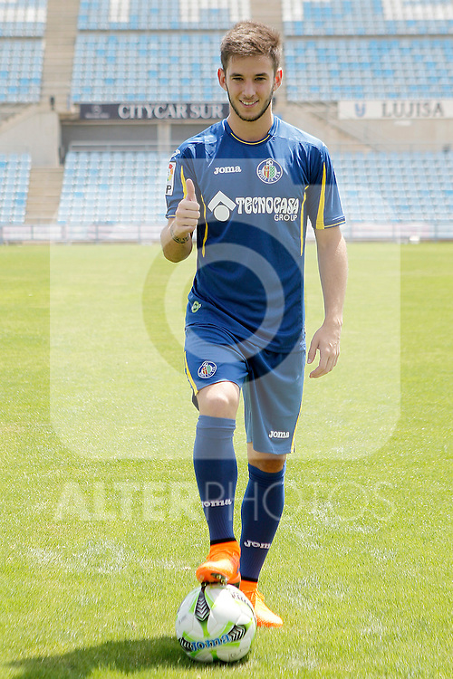Getafe's new player Alvaro Medran during his official presentation. July 6, 2015. (ALTERPHOTOS/Acero)