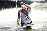 06.07.2013 La Seu D'Urgell, Spain. ICF Canoe Slalom World Cup. Picture show David FLorence (GBR) in action during canoe single C1 men Final at Parc Olimpic del Segre