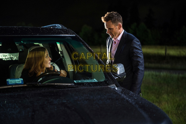 The X-Files (2016)<br /> (Season 1, Episode 1, &quot;My Struggle&quot;)<br /> Gillian Anderson and guest star Joel McHale<br /> *Filmstill - Editorial Use Only*<br /> CAP/KFS<br /> Image supplied by Capital Pictures