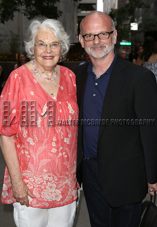 Lois Smith & Michael Wilson attend 'The Unavoidable Disappearance Of Tom Durnin' Opening Night at Laura Pels Theatre on June 27, 2013 in New York City.