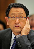 Washington, D.C. - February 24, 2010 --  Akio Toyoda, President and CEO, Toyota Motor Corporation, testifies before the U.S. House Committee on Government and Reform examining the Federal government's response to the recall of millions of Toyota vehicles due to reports of malfunctioning gas pedals, and to gain a better understanding of the nature of the sudden acceleration problem in Toyota vehicles and what should be done about it.  .Credit: Ron Sachs / CNP.(RESTRICTION: NO New York or New Jersey Newspapers or newspapers within a 75 mile radius of New York City)
