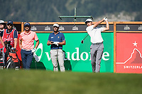 Jack Singh Brar (ENG) in action on the 7th hole during third round at the Omega European Masters, Golf Club Crans-sur-Sierre, Crans-Montana, Valais, Switzerland. 31/08/19.<br /> Picture Stefano DiMaria / Golffile.ie<br /> <br /> All photo usage must carry mandatory copyright credit (© Golffile | Stefano DiMaria)