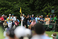 Phil Mickelson (USA) on the 14th tee during the final round at the The Masters , Augusta National, Augusta, Georgia, USA. 14/04/2019.<br /> Picture Fran Caffrey / Golffile.ie<br /> <br /> All photo usage must carry mandatory copyright credit (© Golffile | Fran Caffrey)