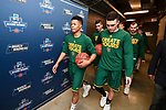 MILWAUKEE, WI - MARCH 16:  Vermont Catamounts players take to the court during the 2017 NCAA Men's Basketball Tournament held at BMO Harris Bradley Center on March 16, 2017 in Milwaukee, Wisconsin. (Photo by Jamie Schwaberow/NCAA Photos via Getty Images)