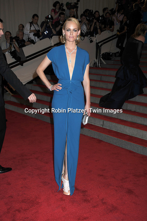 Amber Valletta arriving at The Costume Institute Gala Benefit celebrating American Woman: Fashioning a National Identity at The Metropolitan Museum of Art on May 3, 2010 in New York City.