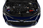 Car stock 2019 Toyota Corolla Touring Sports Premium 5 Door Wagon engine high angle detail view