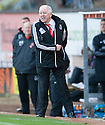Aberdeen manager  Craig Brown is furious after referee Iain Brines waves play on after Niall McGinn goes down   ...