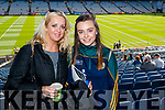 Majella and Saoirse Fennessy, (Kilgarvan), pictured at the All Ireland Minor Football Final of Kerry v Derry in Croke Park on Sunday last.