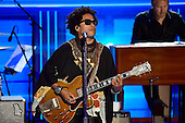Lenny Kravitz performs during the third session of the 2016 Democratic National Convention at the Wells Fargo Center in Philadelphia, Pennsylvania on Wednesday, July 27, 2016.<br /> Credit: Ron Sachs / CNP<br /> (RESTRICTION: NO New York or New Jersey Newspapers or newspapers within a 75 mile radius of New York City)