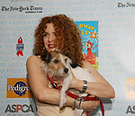 "Host Bernadette Peters at Broadway Barks 11 - a ""Pawpular"" star-studded dog and cat adopt-a-thon on July 11, 2009 in Shubert Alley, New York City, NY. (Photo by Sue Coflin/Max Photos)"