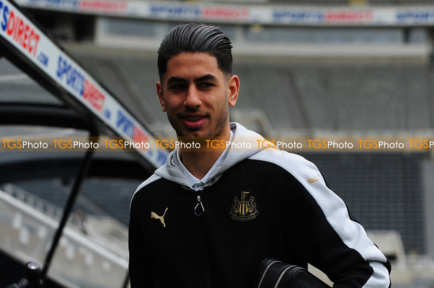 Ayoze Perez of Newcastle United arrives at St James' Park  during Newcastle United vs Barnsley, Sky Bet EFL Championship Football at St. James' Park on 7th May 2017