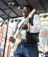 Ernie Vincent at the 2012 Blues and BBQ Festival in New Orleans, LA.