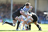 Will Chudley of Bath Rugby takes on the Exeter Chiefs defence. Gallagher Premiership match, between Exeter Chiefs and Bath Rugby on March 24, 2019 at Sandy Park in Exeter, England. Photo by: Patrick Khachfe / Onside Images