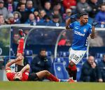 16.03.2019 Rangers v Kilmarnock: Alfredo Morelos and Gary Dicker