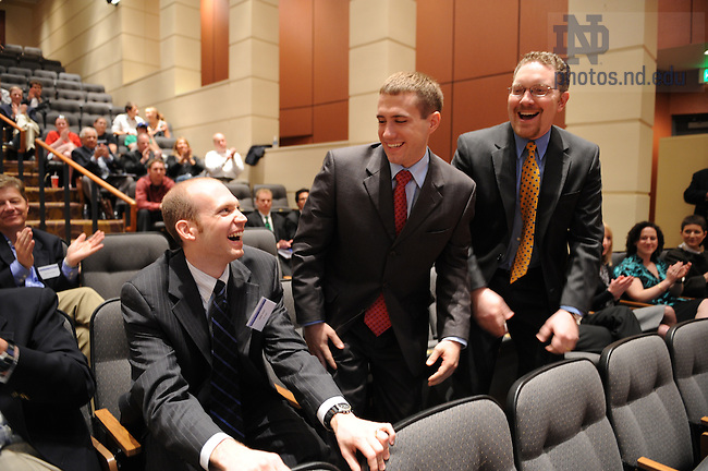 Team RFWare reacts to winning the McCloskey Business Plan competition, April 18, 2008.