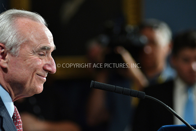 www.acepixs.com<br /> <br /> August 2 2016, New york City<br /> <br /> New York City Police Commissioner Bill Bratton attending a news conference where it was announced that Bratton has resigned and will be succeeded by O'Neil as Police Commissioner on August 2, 2016 in New York City. <br /> <br /> <br /> By Line: Curtis Means/ACE Pictures<br /> <br /> <br /> ACE Pictures Inc<br /> Tel: 6467670430<br /> Email: info@acepixs.com<br /> www.acepixs.com