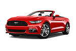 Stock pictures of low aggressive front three quarter view of 2017 Ford Mustang V6 2 Door Convertible Low Aggressive
