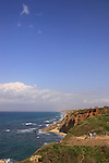 Israel, Sharon region, Apollonia National Park by the Mediterranean Sea