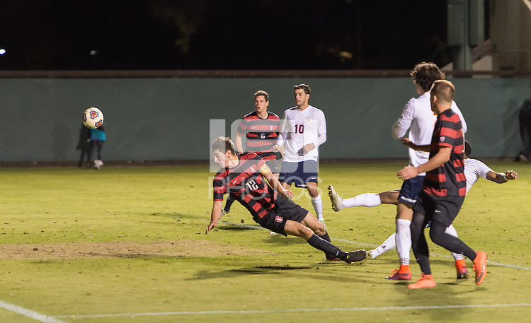 Stanford, CA - November 27, 2016: The Stanford Cardinal vs the University of Virginia in the third round of the NCAA Men's Soccer Championships at Cagan Stadium. Final score Stanford 1, Virginia 0.