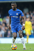 Antonio Rudiger of Chelsea during the Premier League match between Chelsea and Newcastle United at Stamford Bridge, London, England on 2 December 2017. Photo by David Horn.