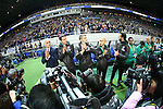 Vahid Halilhodzic (JPN),<br /> MARCH 29, 2016 - Football / Soccer :<br /> Japan's head coach Vahid Halilhodzic lines up in front of the bench with his coaching staff before the FIFA World Cup Russia 2018 Asian Qualifier Second Round Group E match between Japan 5-0 Syria at Saitama Stadium 2002 in Saitama, Japan. (Photo by Kenzaburo Matsuoka/AFLO)(L to R)   Vahid Halilhodzic,   Jacky Bonnevay,   Cyril Moine,  Gun Hiwatashi,   GKRicardo Lopez