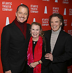 Maxwell Caufield, Juliet Mills and Charles Busch attends the 'Hangmen' Opening Night After Party at the The Gallery at the Dream Downtown on February 5, 2018 in New York City.