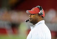 Aug. 22, 2009; Glendale, AZ, USA; Arizona Cardinals running backs coach Curtis Modkins against the San Diego Chargers during a preseason game at University of Phoenix Stadium. Mandatory Credit: Mark J. Rebilas-